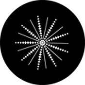 "Rosco Standard Black and White Glass Spectrum Gobo #81151 Spikes and Lines (86mm = 3.4"")"