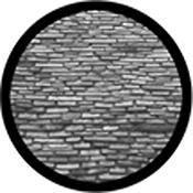 """Rosco Standard Black and White Glass Spectrum Gobo #81180 Slate Roof (86mm = 3.4"""")"""