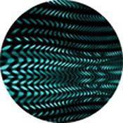 "Rosco Standard Color Glass Spectrum Gobo #84424 Cyan Tread (86mm = 3.4"")"