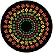 """Rosco Standard Color Glass Spectrum Gobo #86647 Flower Power (86mm = 3.4"""")"""