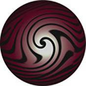 "Rosco Standard Color Glass Spectrum Gobo #86660 Blood Marble (86mm = 3.4"")"