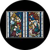 "Rosco Standard Color Glass Spectrum Gobo #86674 Nativity Stained Glass (86mm = 3.4"")"