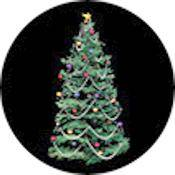 "Rosco Standard Color Glass Spectrum Gobo #86707 Decorated Tree (86mm = 3.4"")"
