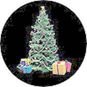 "Rosco Standard Color Glass Spectrum Gobo #86706 Tree & Presents (86mm = 3.4"")"