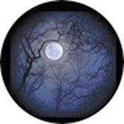 "Rosco Standard Color Glass Spectrum Gobo #86710 Howling Moon (86mm = 3.4"")"