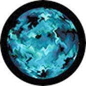 "Rosco Standard Color Glass Spectrum Gobo #86729 Aquatic Mix (86mm = 3.4"")"