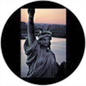 "Rosco Standard Color Glass Spectrum Gobo #86722 Sunset Liberty (86mm = 3.4"")"
