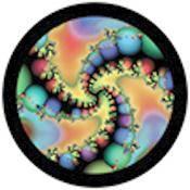 """Rosco Standard Color Glass Spectrum Gobo #86749 Infrared Spheres (86mm = 3.4"""")"""