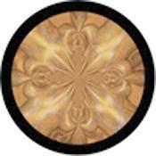 "Rosco Standard Color Glass Spectrum Gobo #86739 Quicksilver Gold (86mm = 3.4"")"