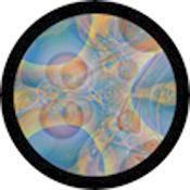 "Rosco Standard Color Glass Spectrum Gobo #86742 Sky-Dye (86mm = 3.4"")"