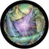 """Rosco Standard Color Glass Spectrum Gobo #86751 Wonderland Naissance (86mm = 3.4"""")"""