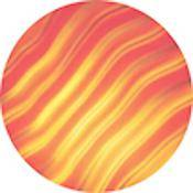 "Rosco Colorwave Effects Color Glass Gobo - #33001 - Red Waves (86mm = 3.4"")"
