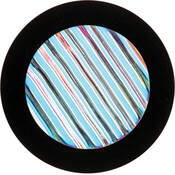 "Rosco Colorwave Effects Color Glass Gobo - #33004 - Cyan Waves (86mm = 3.4"")"