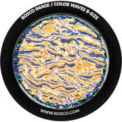 "Rosco Colorwave Effects Color Glass Gobo - #33102 - Amber Ripple (86mm = 3.4"")"