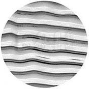 "Rosco Image Effects Black and White Glass Gobo - #33606 - Waves (86mm = 3.4"")"