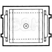 """Mamiya Focusing Screen Type """"D"""" Cross-Hair (with Aerial Spot) for RB67"""