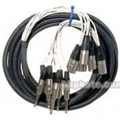 "Pro Co Sound MT8BQXM-20 Analog Harness Cable 8x 1/4"" TRS Phone Male to 8x XLR Male (20')"