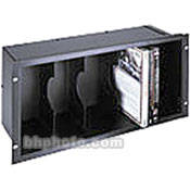 Middle Atlantic Front Loading 28-DVD Holder (Black Brush Finish)