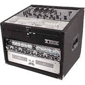 Odyssey Innovative Designs CXC904 Carpeted Console Rack Case {Black}