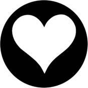 Rosco Stainless Steel Gobo #77943 - Heart - Size M 66mm