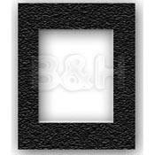 "Savage ProMatte Pre-Cut Museum Mat - Single Whitecore - 5 x 7"" Mat for 3.5 x 5"" Print - Pebble Black"