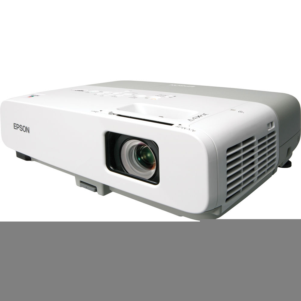 Remote 3LCD Projector 2600 ANSI HD 1080i HDMI w//Adapter Epson PowerLite 85