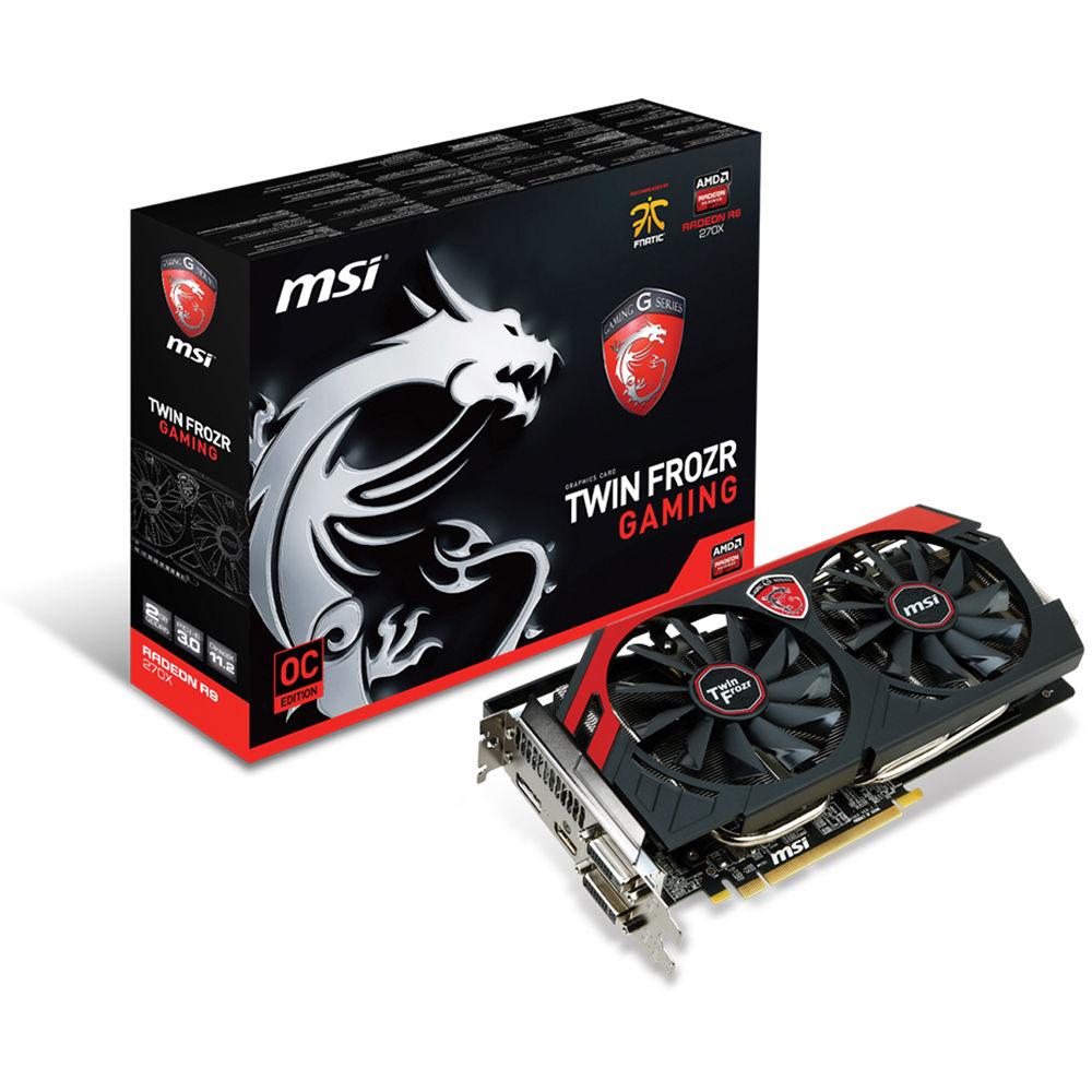 MSI Radeon R9 270X Gaming Graphics Card