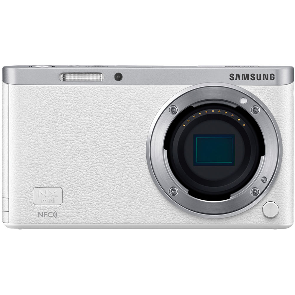 Samsung NX Mini Mirrorless Digital Camera with 9mm Lens (White)