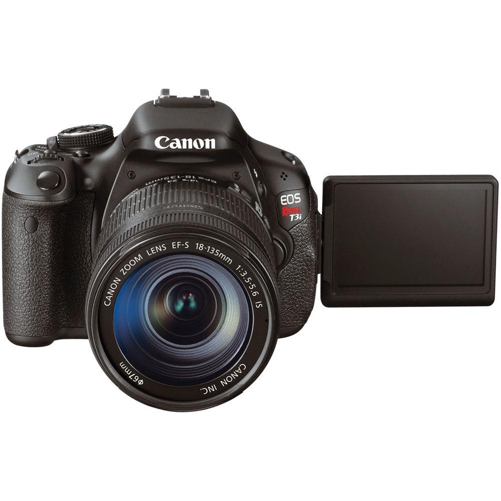 Canon EOS Rebel T3i DSLR Camera W/EF-S 18-135mm f/3 5-5 6 IS Lens