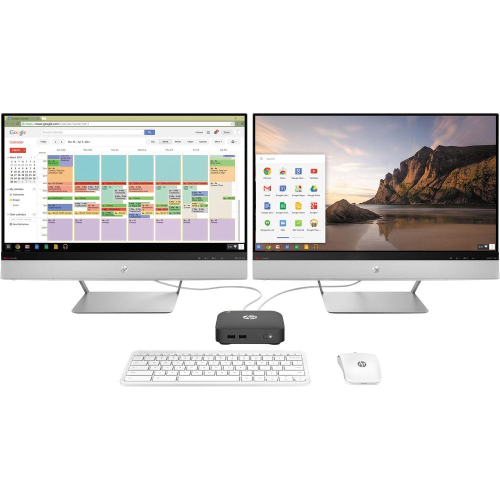 HP Chromebox CB1-020 Desktop Computer (Smoke Silver)