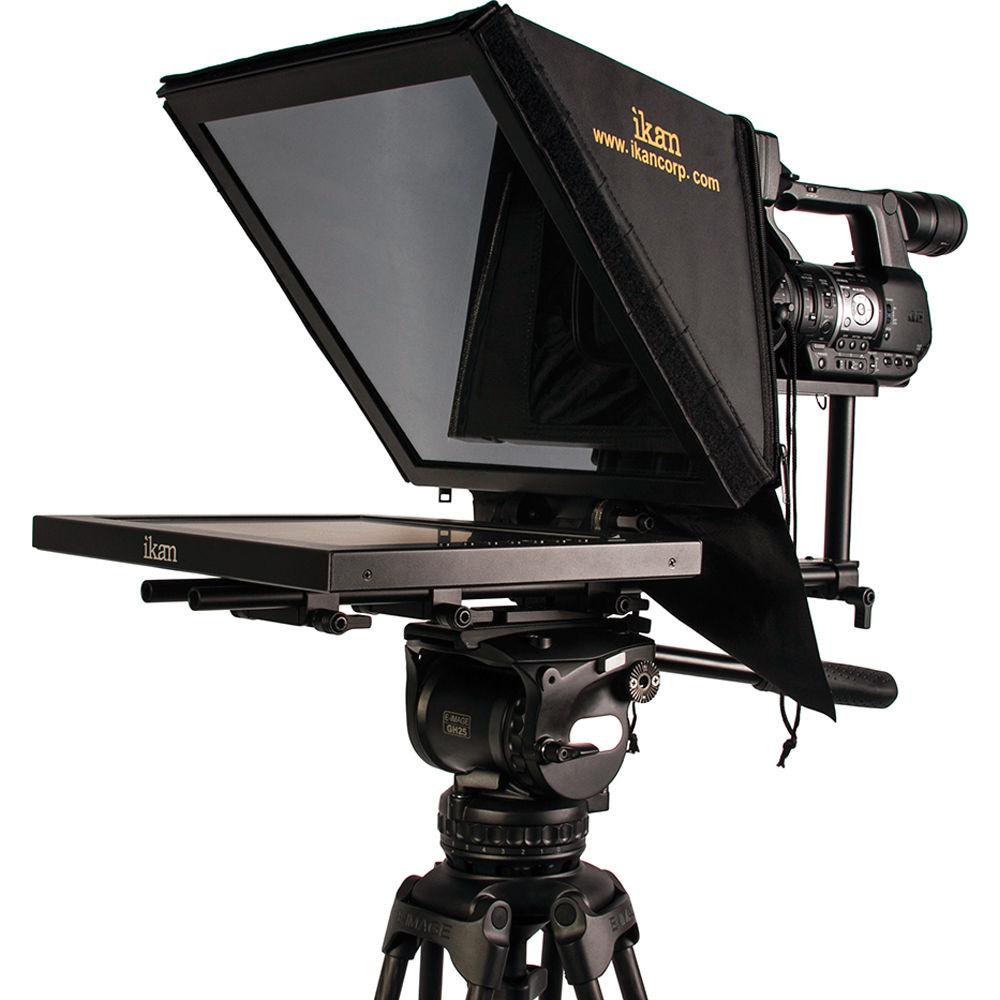 Ikan PT3500 -prompteri on varustettu omalla 15-tuumaisella näytöllään. Sen painikkeista voi suoraan valita kuvan peilauksen. Tietokoneeseen näyttö kytketään HDMI-kaapelilla aivan tavalliseen tapaan.