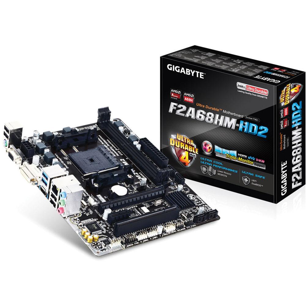Gigabyte GA-F2A68HM-HD2 Micro-ATX Motherboard