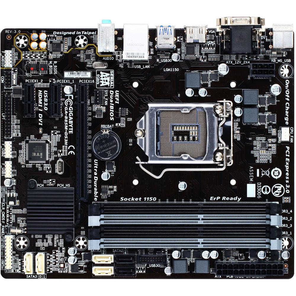 Gigabyte Series 8 GA-B85M-DS3H Motherboard (rev  3 0)