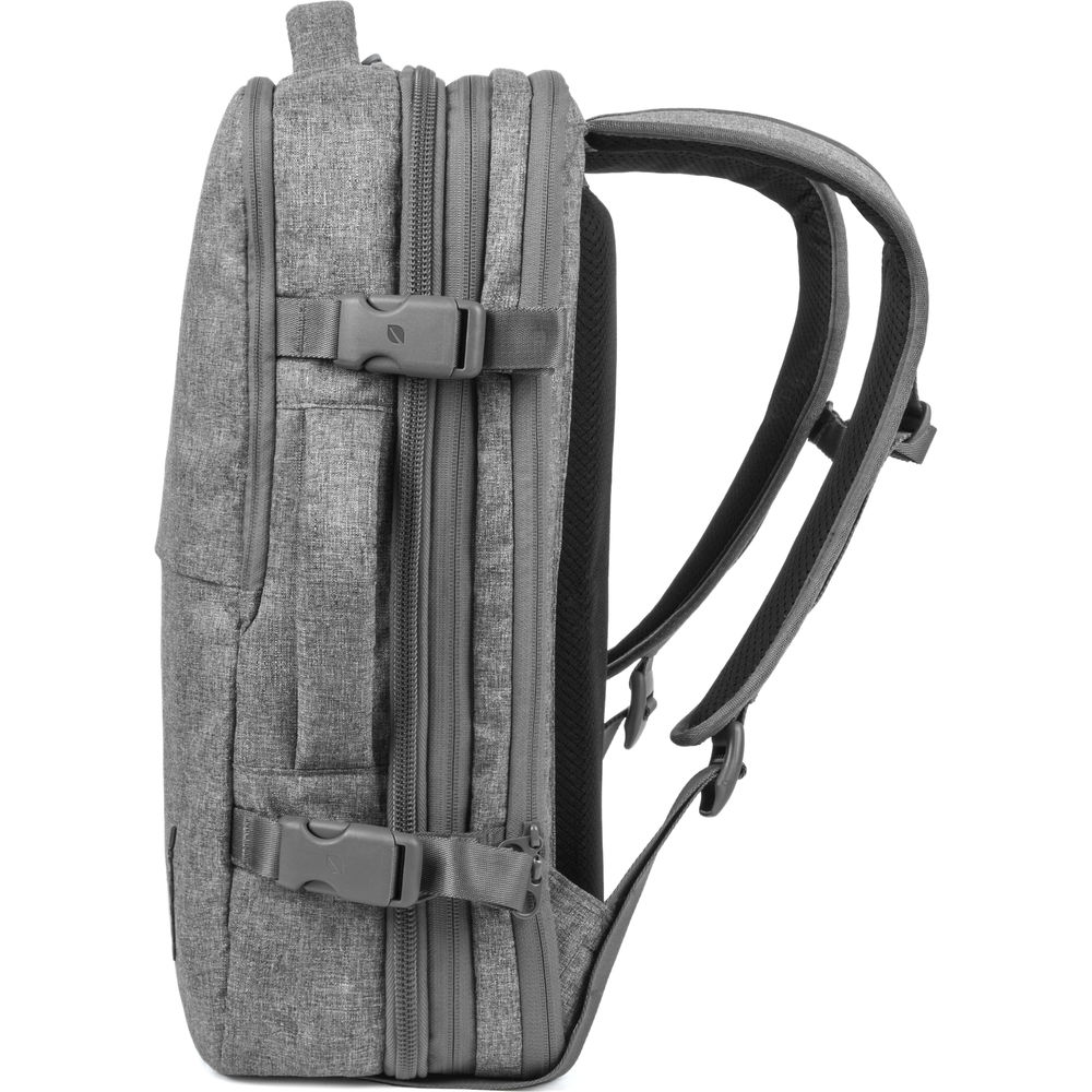 Details about  /Travel Backpack with Padded Sidewalls for Convenient Organization Castle Grey