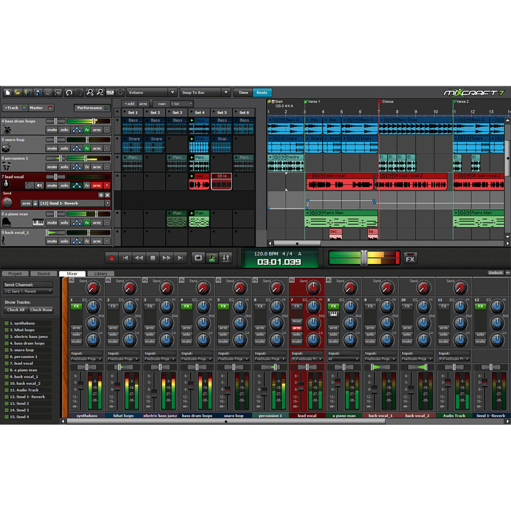 Acoustica Mixcraft 7 - Multi-Track Recording and Performance Software  (Educational Site License, Download)