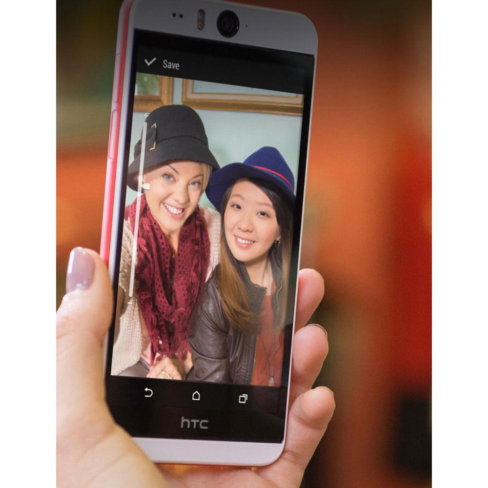 HTC Desire Eye M910X 16GB AT&T Branded Smartphone (Unlocked, White/Red)