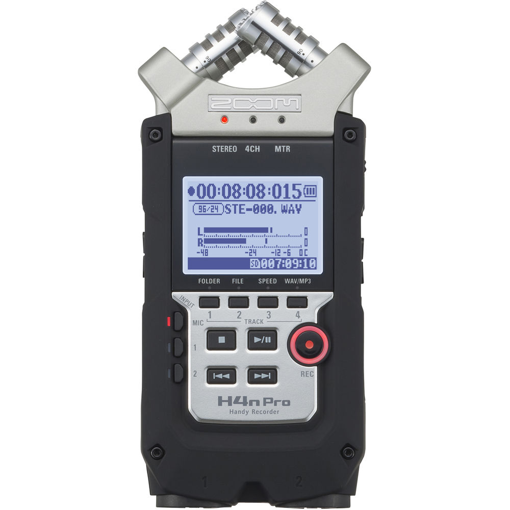 Zoom H4n Pro 4 Input 4 Track Portable Handy Recorder Zh4npro
