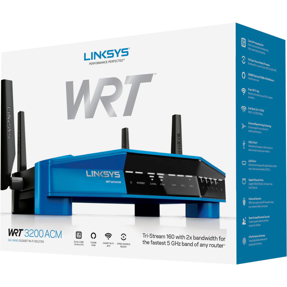 Linksys WRT3200ACM Dual-Band Wireless-AC3200 Gigabit Router