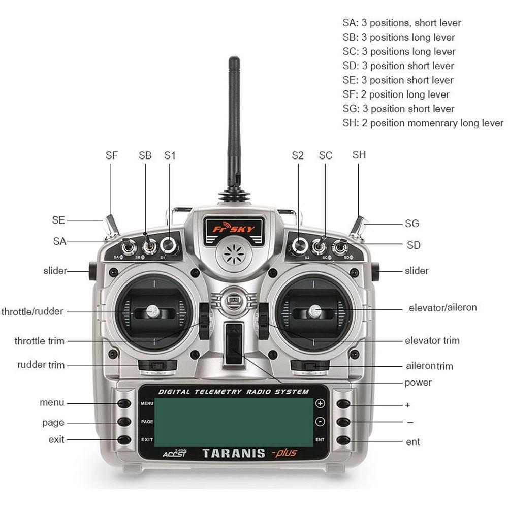 FrSky Taranis X9D Plus Mode-2 Transmitter