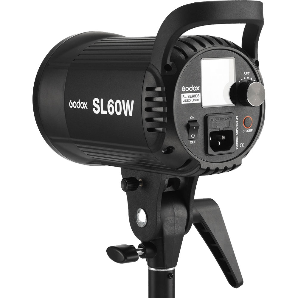 Light Stand Godox SL-60W CRI 95 LED Video Light SL60W White 5600K Version 60WS Bowens Mount with AMBITFUL P60 Quick Installation Soft Box,Carrying Bag
