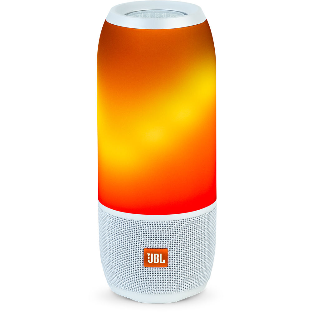 JBLPULSE3WHT JBL Pulse 3 Portable Wireless Bluetooth Speaker White Lights up