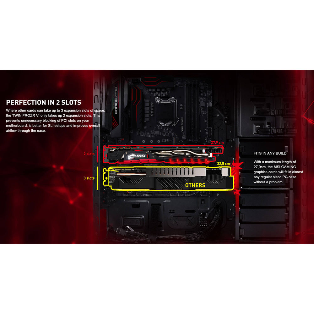 MSI GeForce GTX 1060 GAMING X 6G Graphics Card