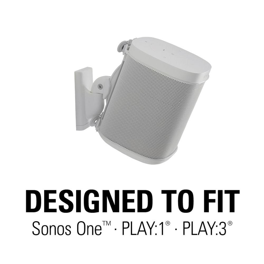 "white Sanus /""WSWM21/"" Speaker Mount for Sonos® ONE PLAY:3 PLAY:1"