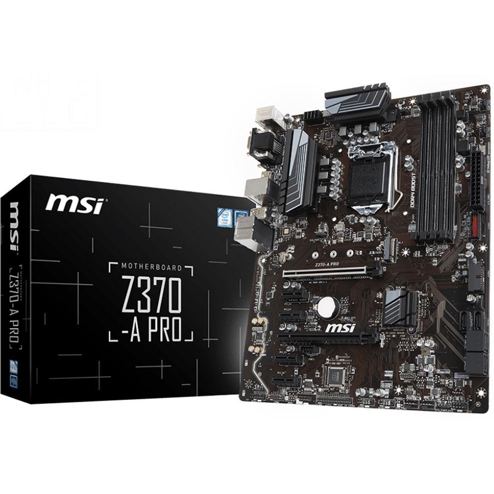 MSI Z370-A Pro LGA 1151 ATX Motherboard