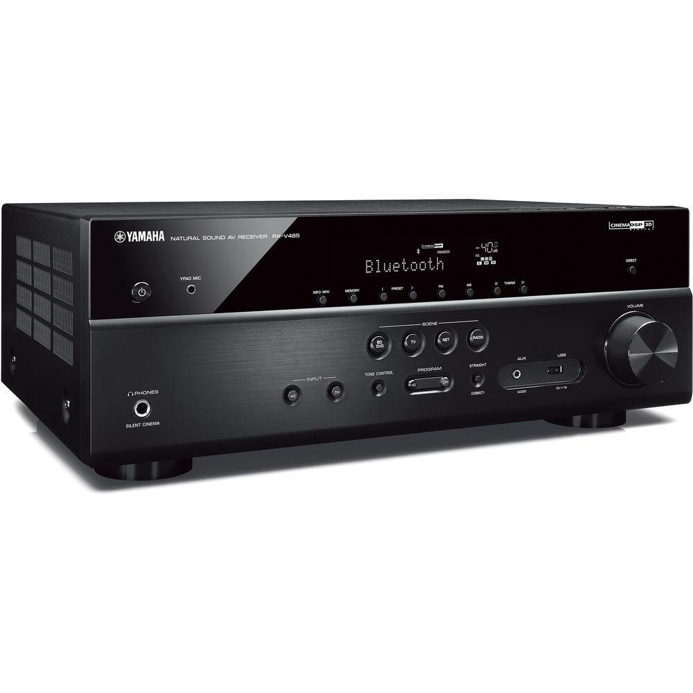 Yamaha RX-V485 5 1-Channel MusicCast A/V Receiver