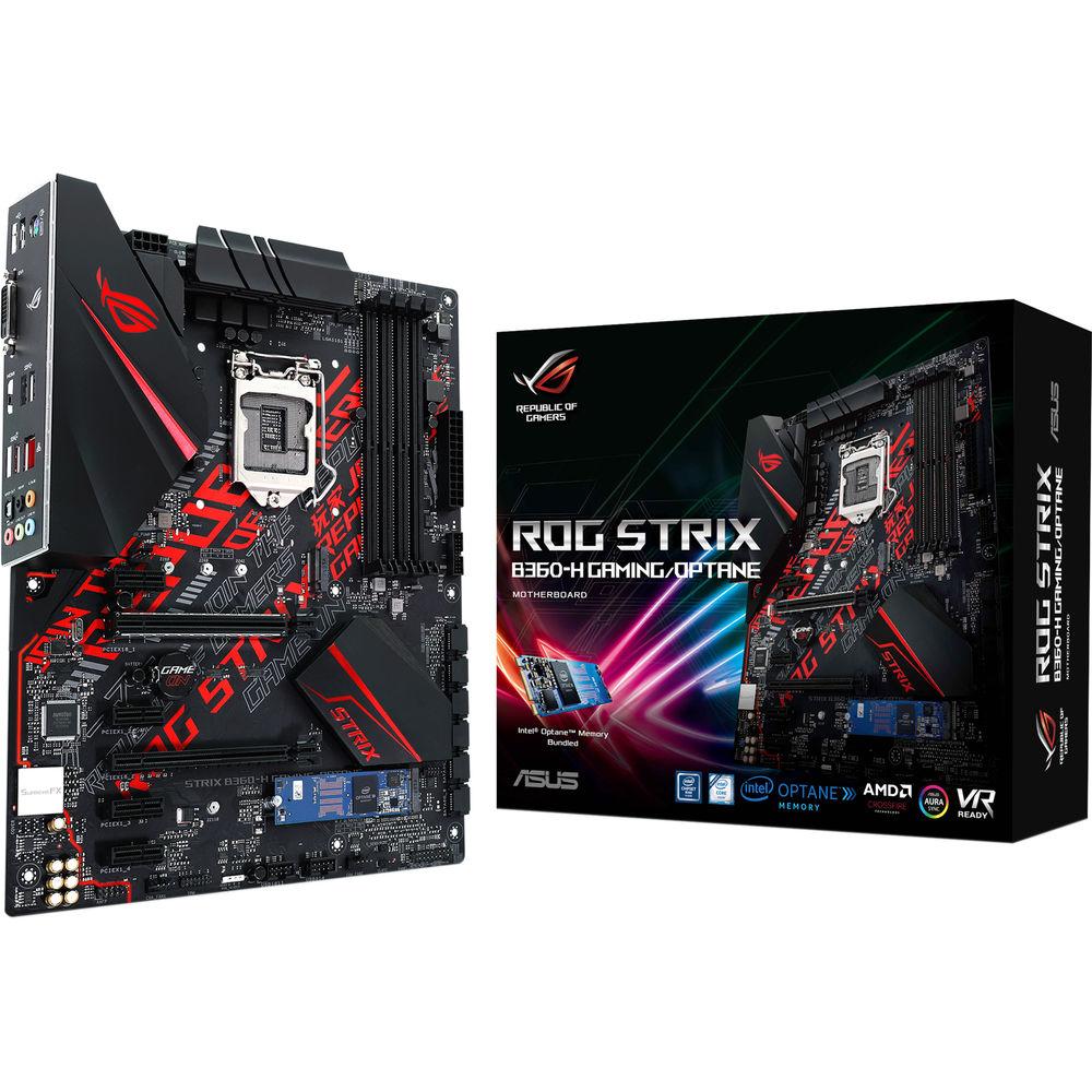 ASUS Republic of Gamers Strix B360-H Gaming/Optane LGA 1151 ATX Motherboard