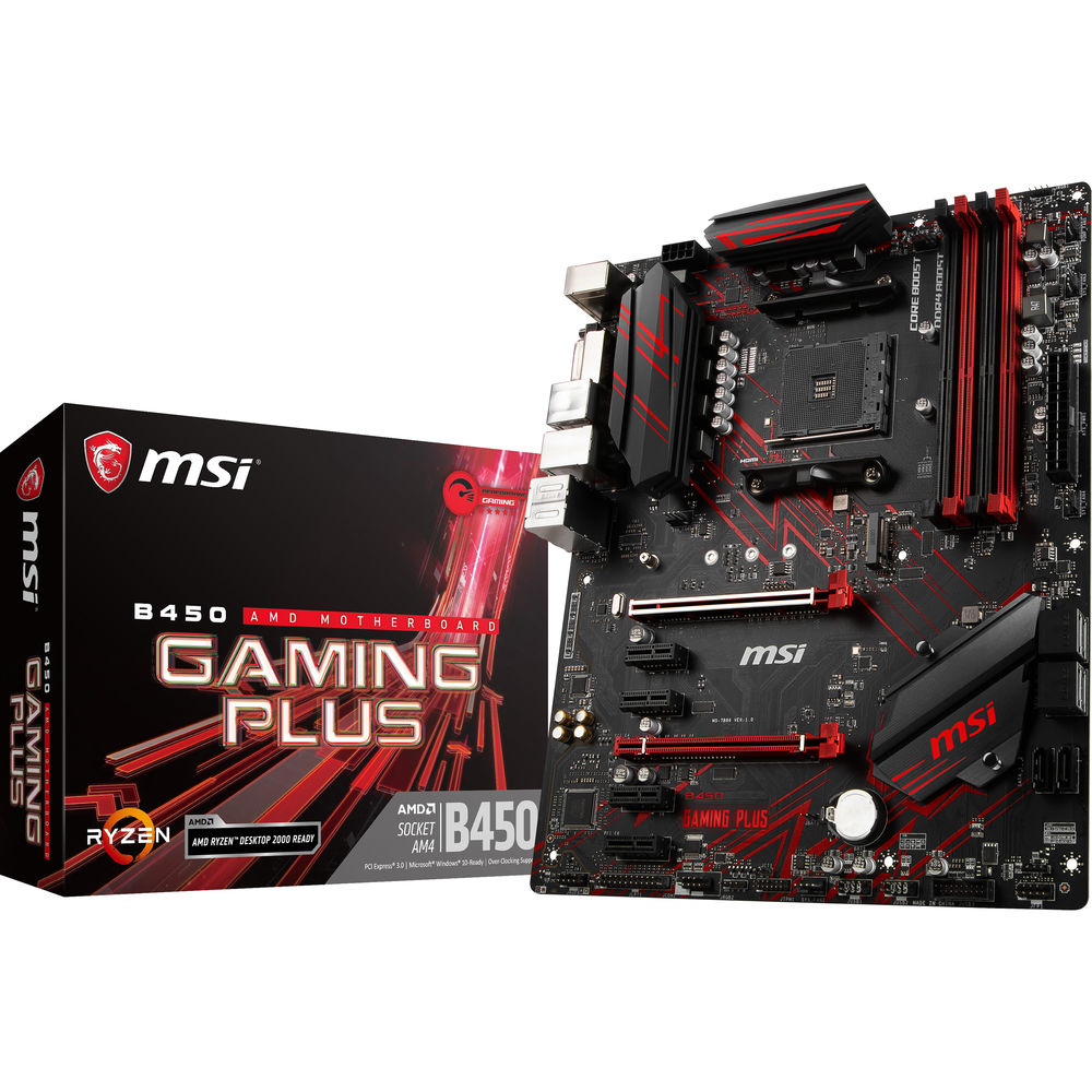 MSI B450 Gaming Plus AM4 ATX Motherboard