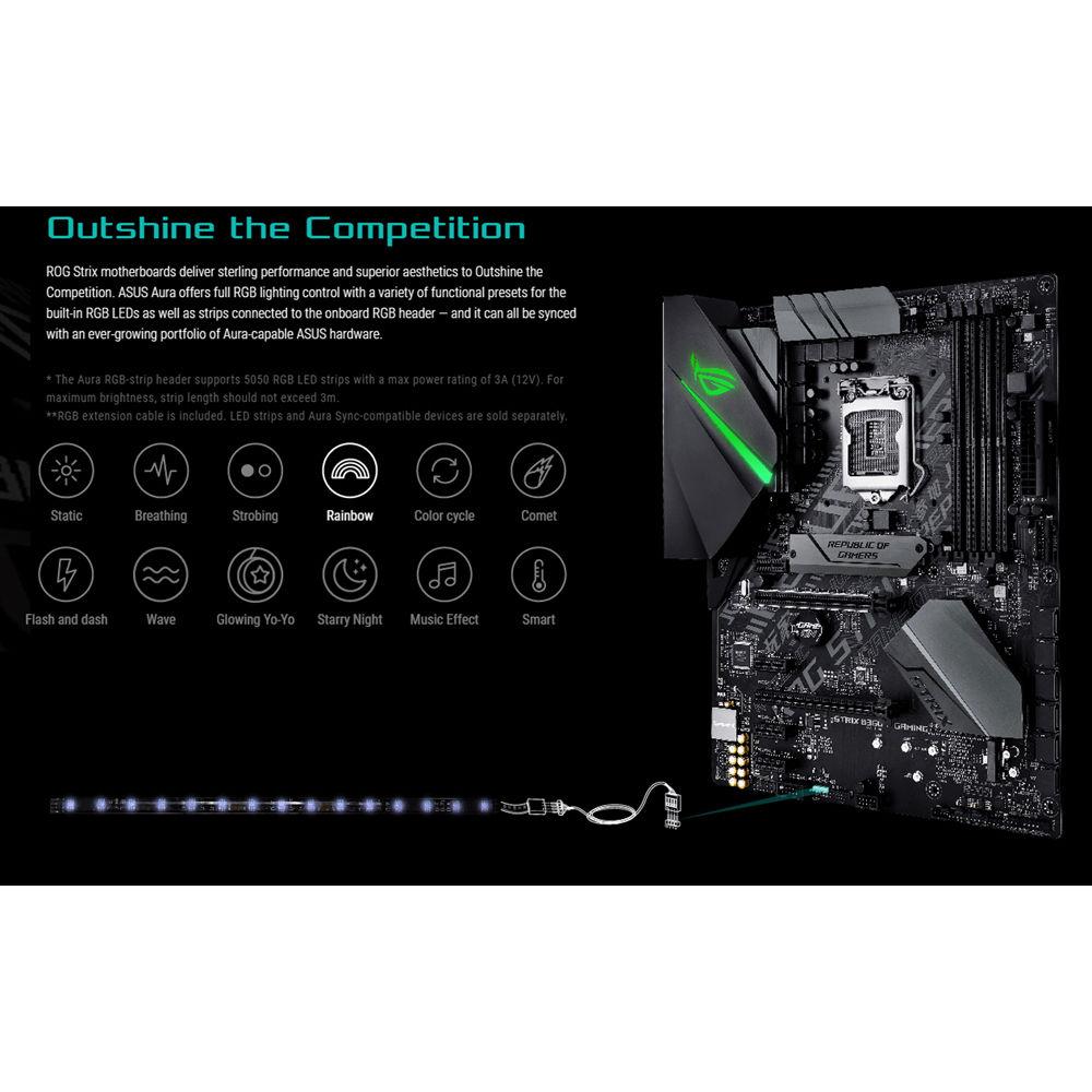 ASUS Republic of Gamers Strix B360-F Gaming LGA 1151 ATX Motherboard