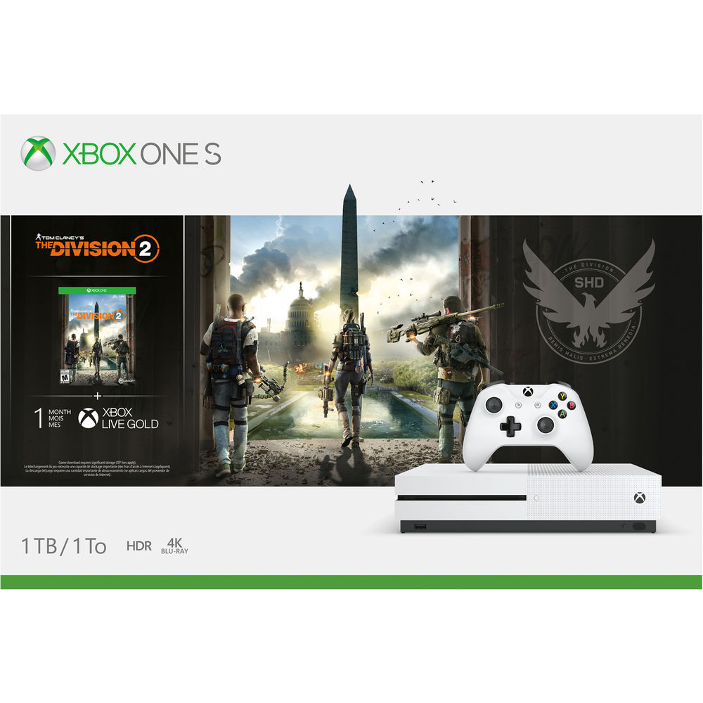 Microsoft Xbox One S Tom Clancy's The Division 2 Bundle