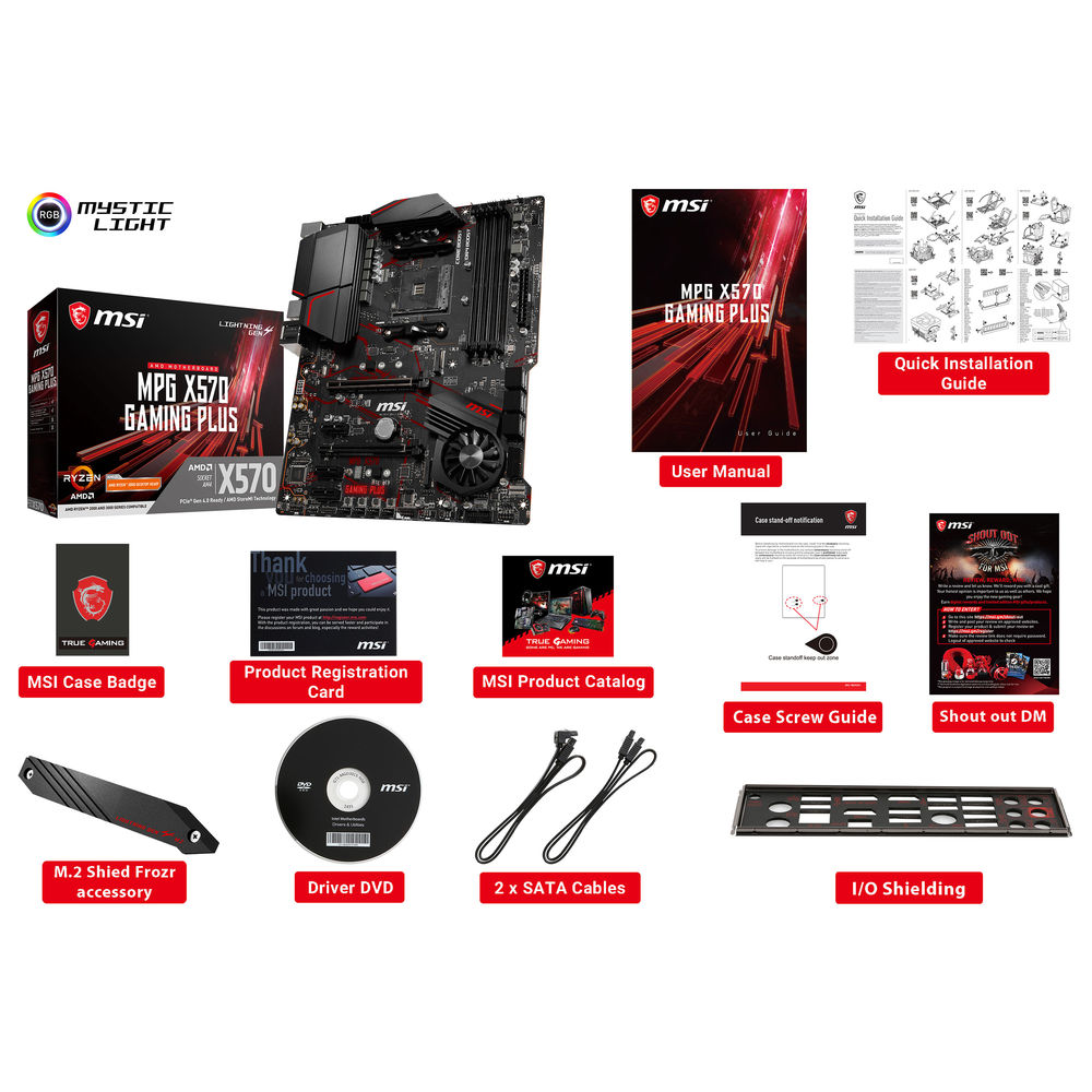 MSI MPG X570 GAMING PLUS AM4 ATX Motherboard